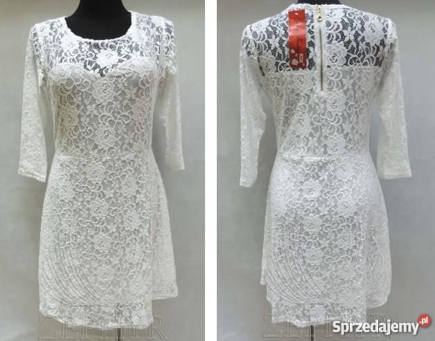 dfc3f32ef1 Sukienka damska biała koronkowa XL +wysyłka Bytom - Sprzedajemy.pl
