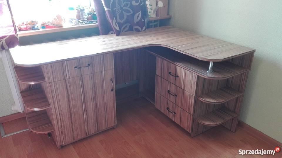 biurko narożne drewniane Sprzedajemy.pl