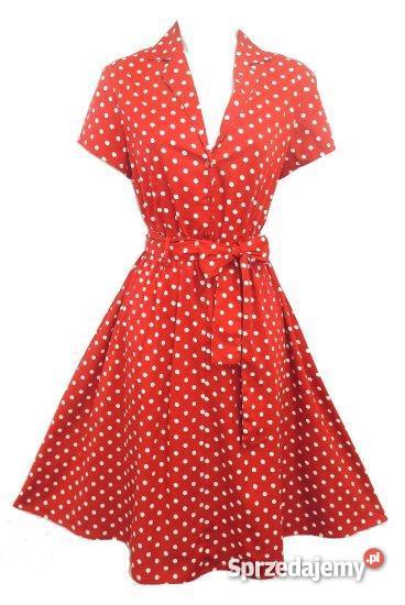 88715884ca Lekka sukienka w stylu Pin Up rozmiar 48 - Sprzedajemy.pl