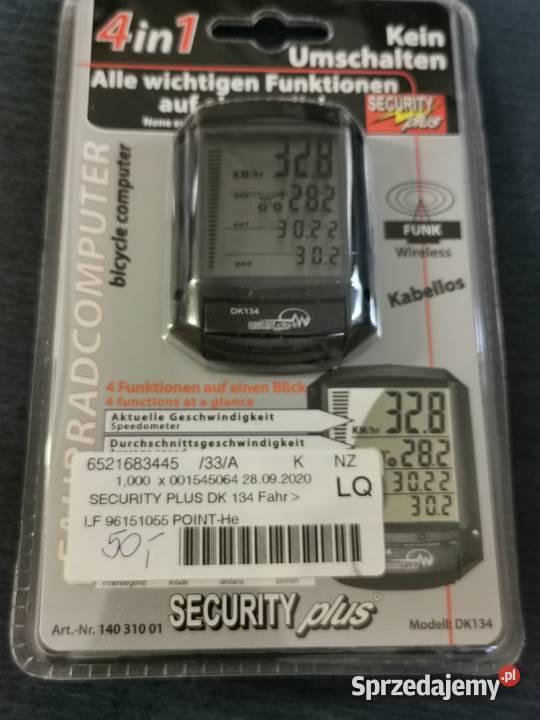 Komputer rowerowy, bezprzewodowy Security Plus DK 134 - 4in1
