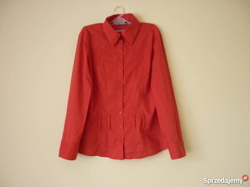 Elegancka czerwona koszula damska L Maków Podhalański