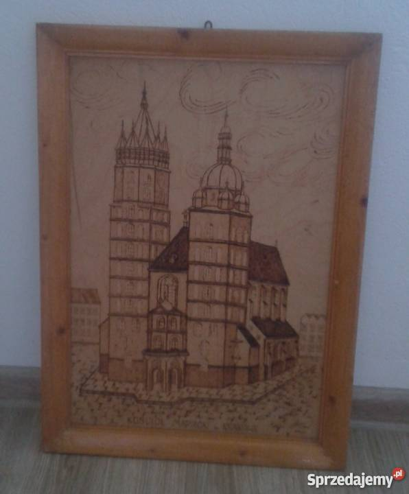 Obrazy wykonane metodą wypalania w drewnie Dekoracje i ozdoby dolnośląskie Niedźwiedź