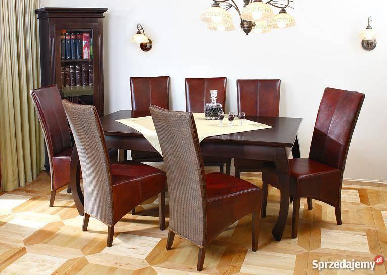 Krzesła tapicerowane skóra naturalna