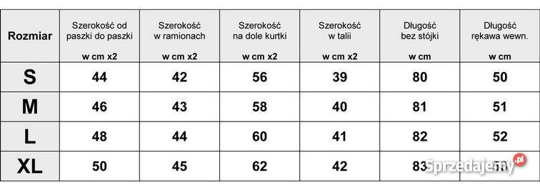 Kurtka Damska Ocieplana Zimowa 62 SMLXLXXL Warszawa