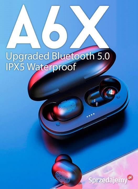 A6X słuchawki dotykowe bezprzewodowe bluetooth 5.0 TWS