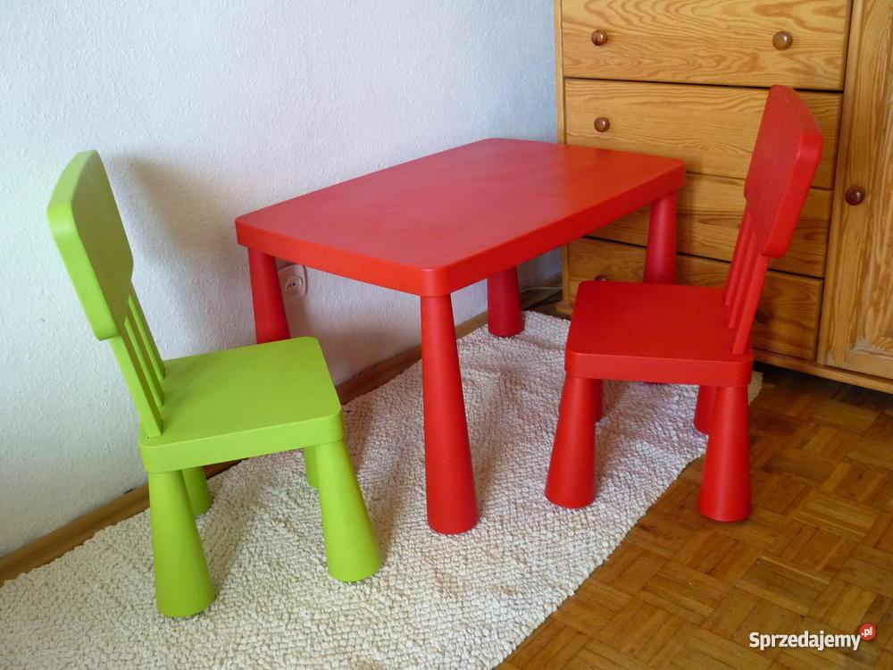 Stolik 2 Krzesełka Mammut Ikea