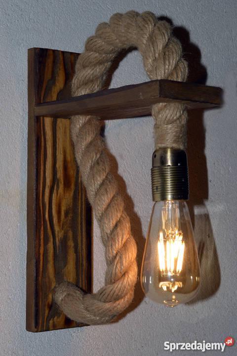 Drewniany kinkiet VINTAGE Edison LOFT Retro