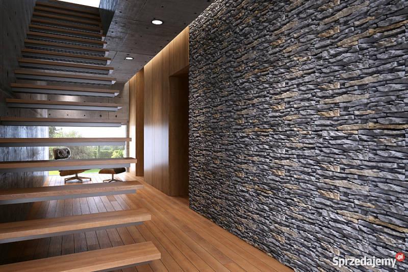 Unikalne Płytki Dekoracyjne Panel 3D, Cegła z Fugą Kamień Naturalny Wrocław KJ97