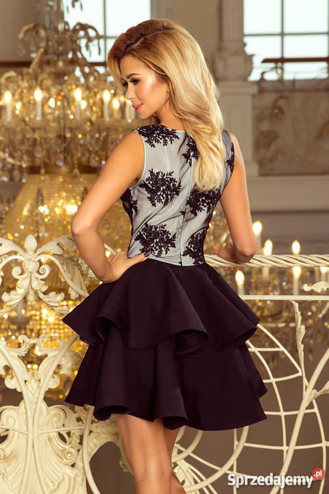 6a898c76de0a84 CHARLOTTE ekskluzywna sukienka koronkowy dekolt zielona Mykanów ...
