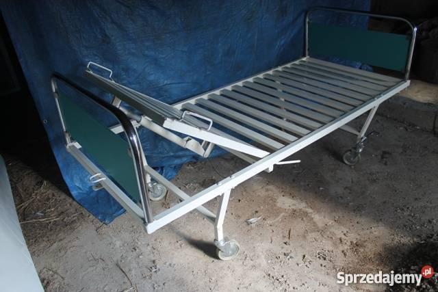 Modernistyczne Niemieckie łóżko szpitalne z materacem Konin - Sprzedajemy.pl BS95