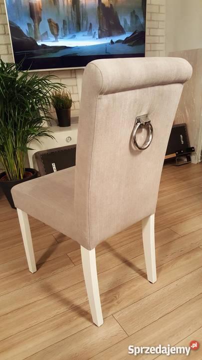 Krzesło tapicerowane z kołatką nowe producent glamour