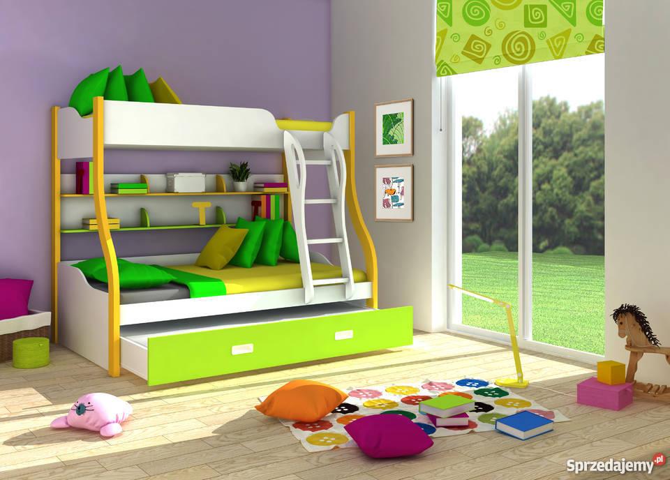 łóżko Piętrowe Dla Dzieci Bezpieczne W Różnych Kolorach