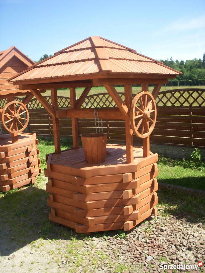 Ozdobne Studnie Ogrodowe Z Drewna Q Housepl