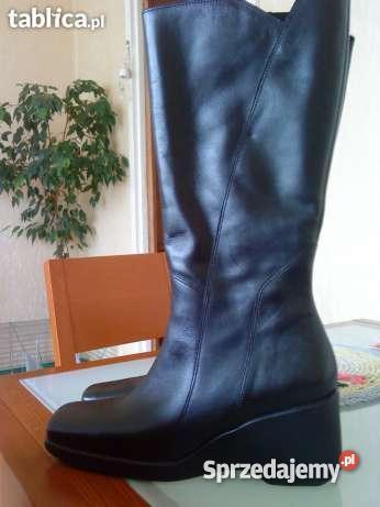 dd9b140f2f651 Kozaki (czarne-skóra)firmy BUTS rozmiar 40 - Sprzedajemy.pl