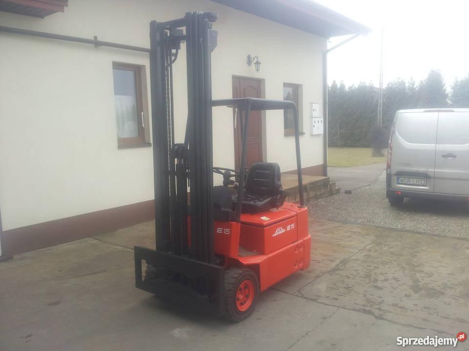 Prächtig Wózek widłowy Linde E15 324 Belsk Duży - Sprzedajemy.pl #VX_02