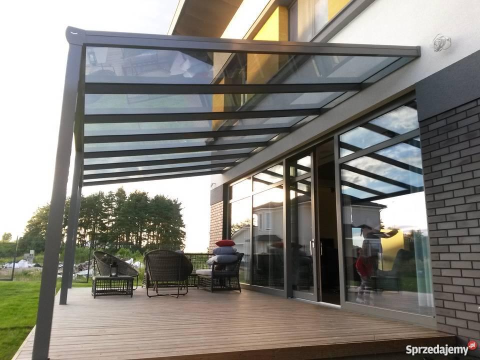 Bardzo dobra Zadaszenie zabudowa tarasu ogród zimowy szkło aluminium. Łęgowo NG74