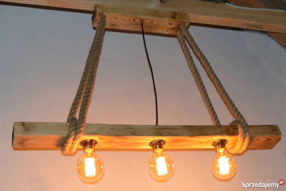 Lampa wisząca stara belka drewniana LOFT VINTAGE zachodniopomorskie Szczecin sprzedam