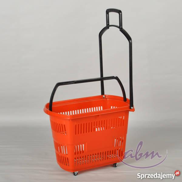 Koszyk samoobsługowy plastikowy na kółkach Tarnów