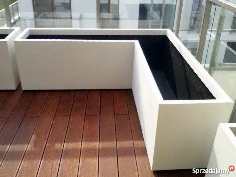 Lekkie donice balkonowe na wymiar