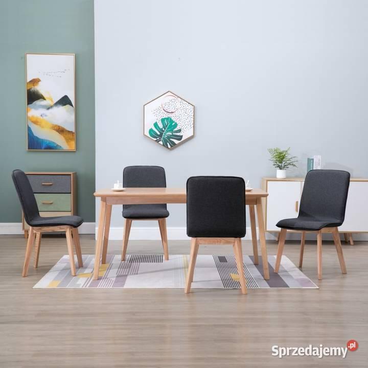 vidaXL Krzesła do jadalni, 4 szt., szare, tkanina i 248913