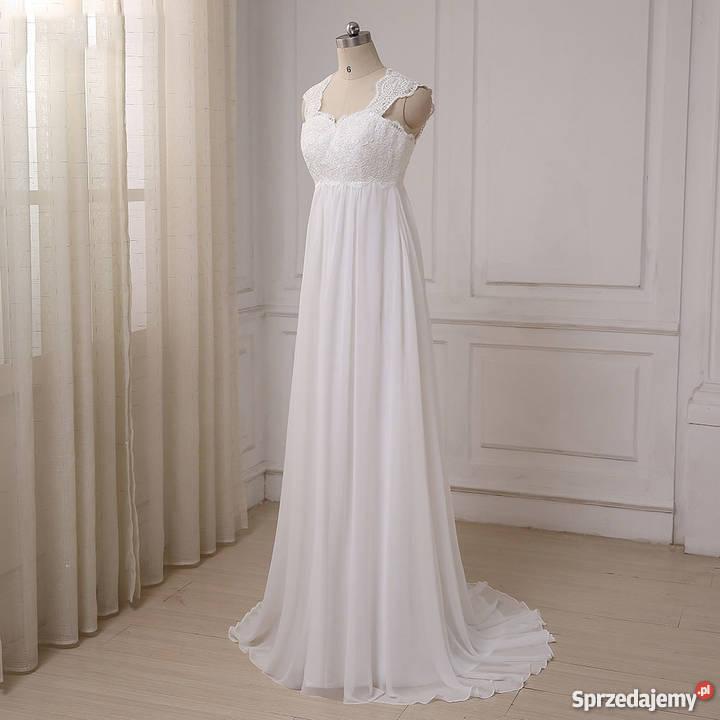 2c76832e75 Suknia ślubna ciążowa wesele cywilny 36 S 38 M dolnośląskie Jelenia Góra