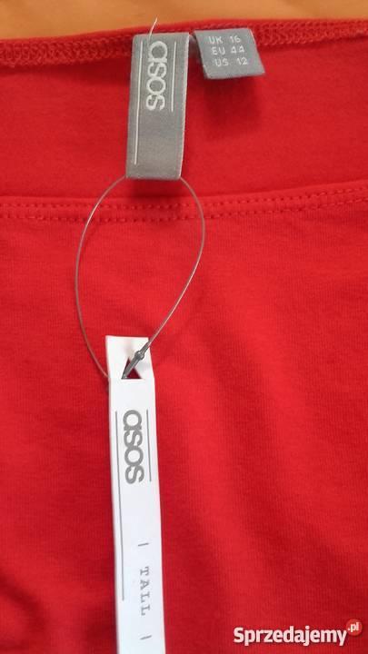 czerwona sukienka Asos długi rękaw Sosnowiec