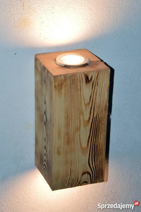 Kinkiet belka drewniana LED VINTAGE LOFT Szczecin