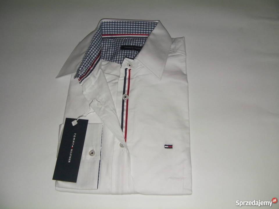 b86dfec1f84ae koszula Tommy Hilfiger biała Węgrów - Sprzedajemy.pl