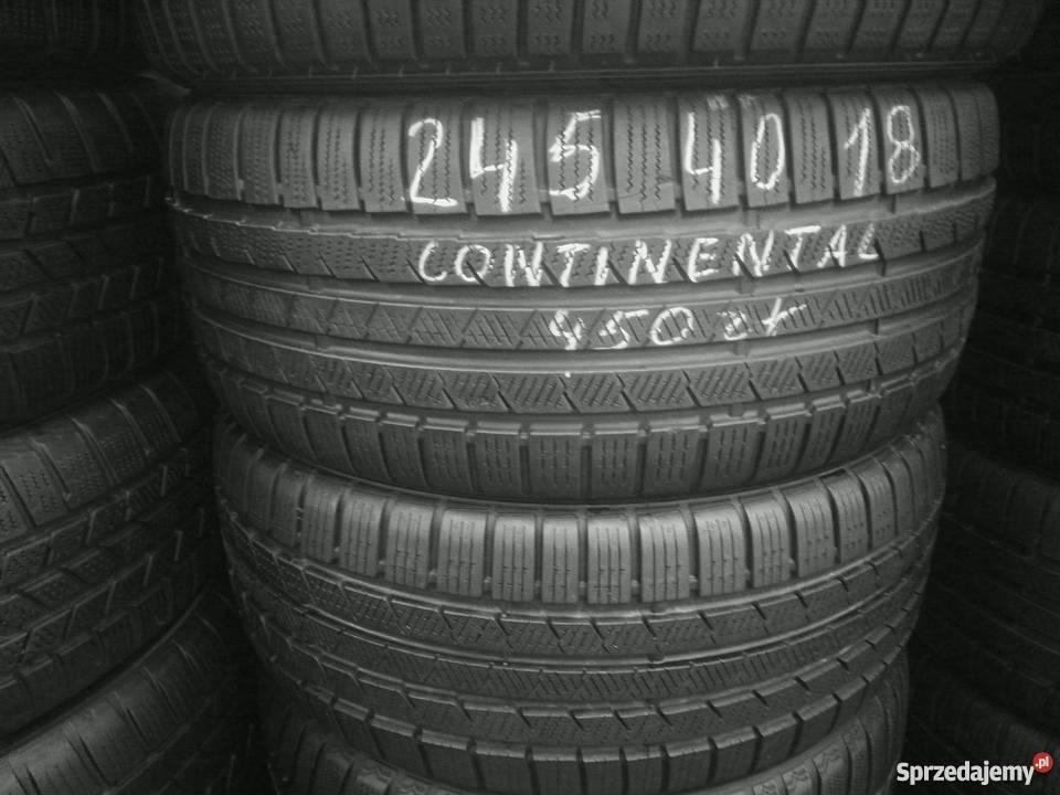 2454018 Continental Opony Zimowe Używane Montaż Gratis Warszawa