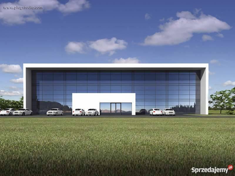 Projekt nowoczesnego budynku usługowego biurowego