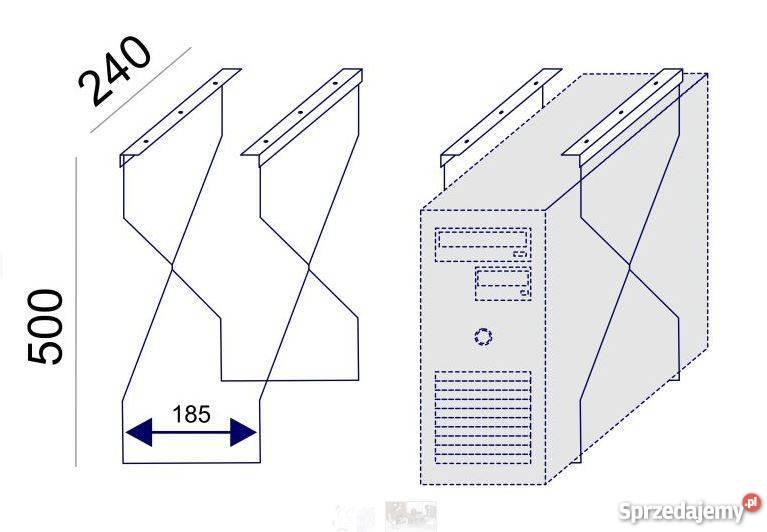 Podwieszany uchwyt komputera mazowieckie