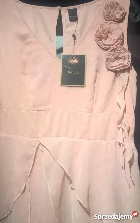 822e3fdddd Sukienka VILA 42 wesele ślub suknia wizytowa bez rękawa zachodniopomorskie Szczecin  sprzedam