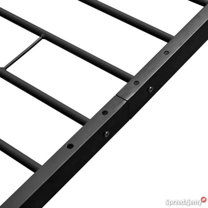 Vidaxl Rama łóżka 140 X 200 Cm Metalowa Czarna 244060