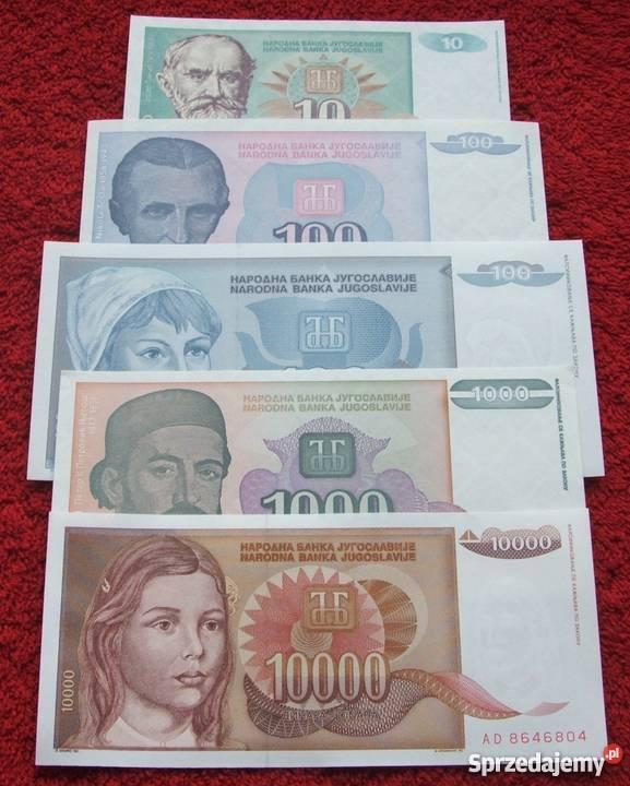 JUGOSŁAWIA GŁOWY Kolekcjonerskie Banknoty Zestaw Katowice
