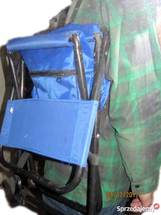Krzesełko wędkarskie z oparciem i plecakiem Torby, plecaki i walizki Nysa sprzedam