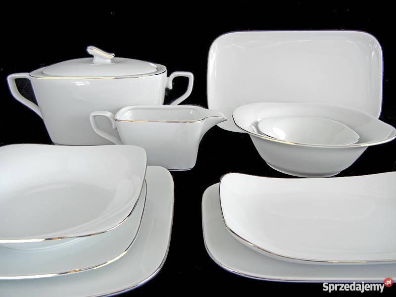 Serwis Obiadowy Porcelanowy Aurisaurora 12 Osób Wałbrzych