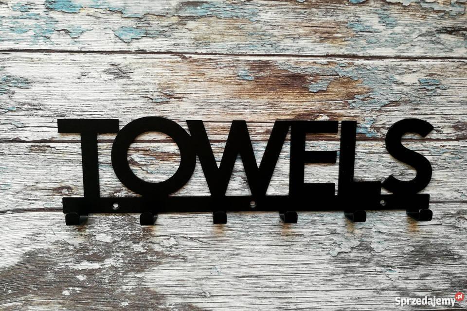 Do łazienki Wieszak Na Ręczniki Towels 6x Hak Stalowy Rabka Zdrój
