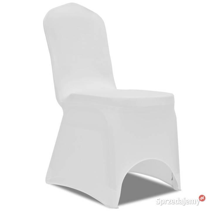 130342 Elastyczne pokrowce na krzesło białe 4 szt. 131408