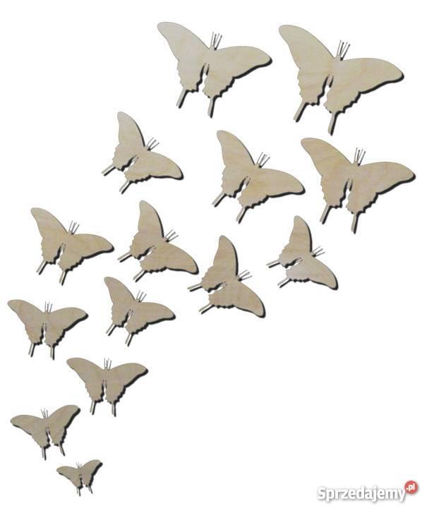 Dekoracja Ze Sklejki Motyle