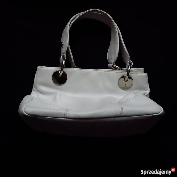 Włoska torebka skórzana marina galanti biała Galeria zdjęć