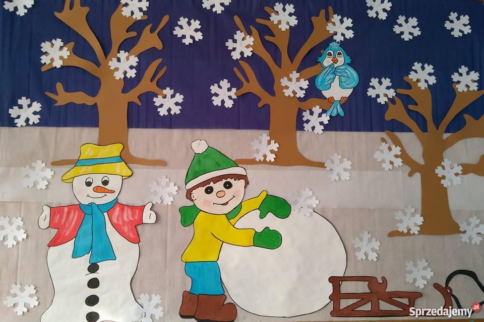 Zimowa Dekoracja Na Gazetkę Szkolną Przedszkolną Zima