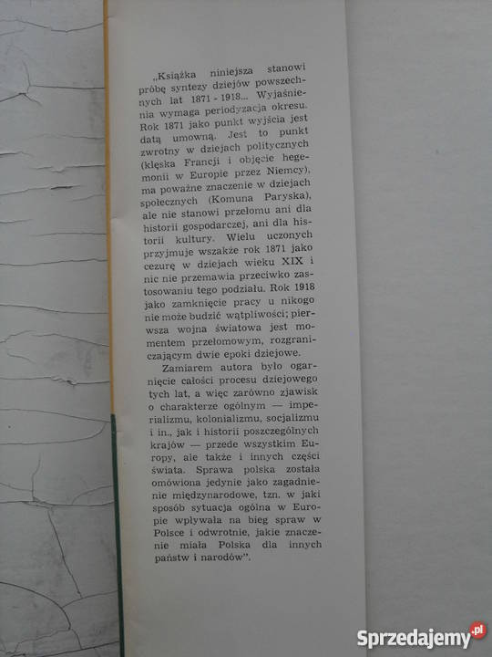 Historia Powszechna 18711918 J Pajewski Warszawa