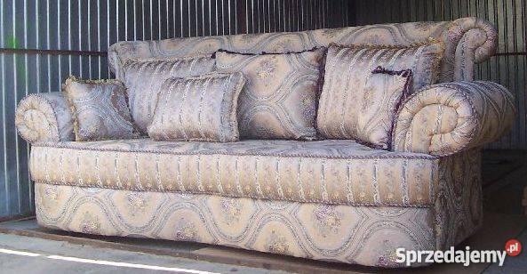 Stylowa sofa kanapa tapczan trójka meble wypoczynkowe