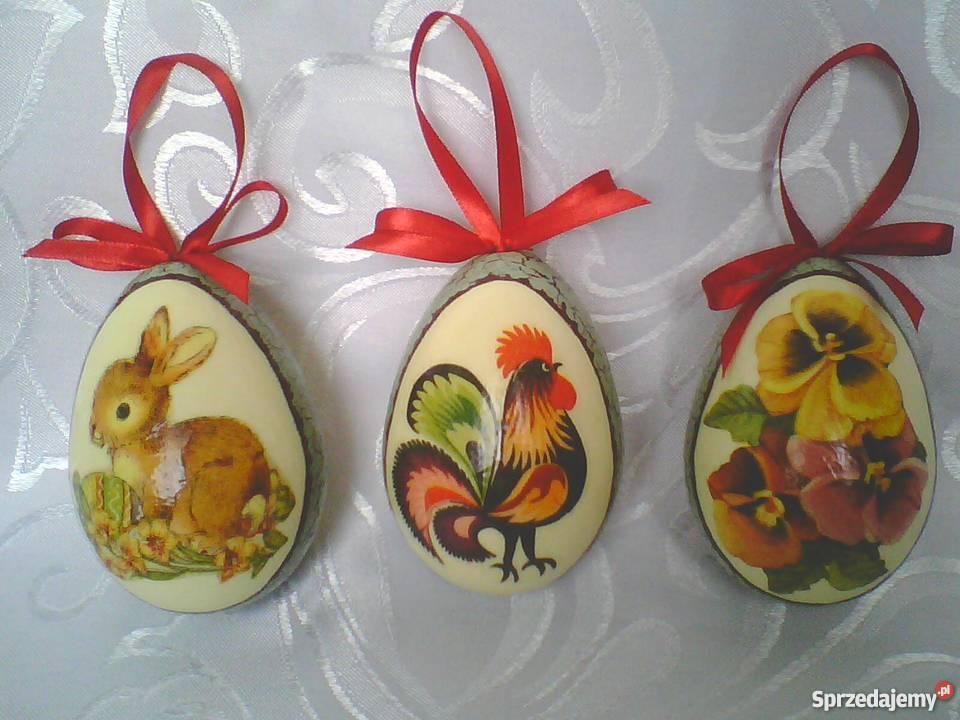 Pisanki decoupage jajka wielkanocne dekupaż