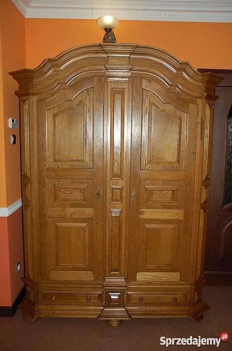 Piękna, dębowa szafa - lite drewno - bardzo masywna,solidna