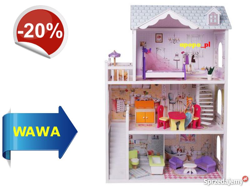80181338a851 Ogromny drewniany domek dla lalek BARBIE Warszawa - Sprzedajemy.pl
