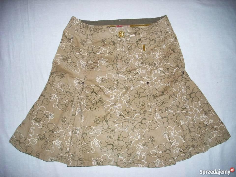 Spódnica Sztruksowa Wzorek 40 L