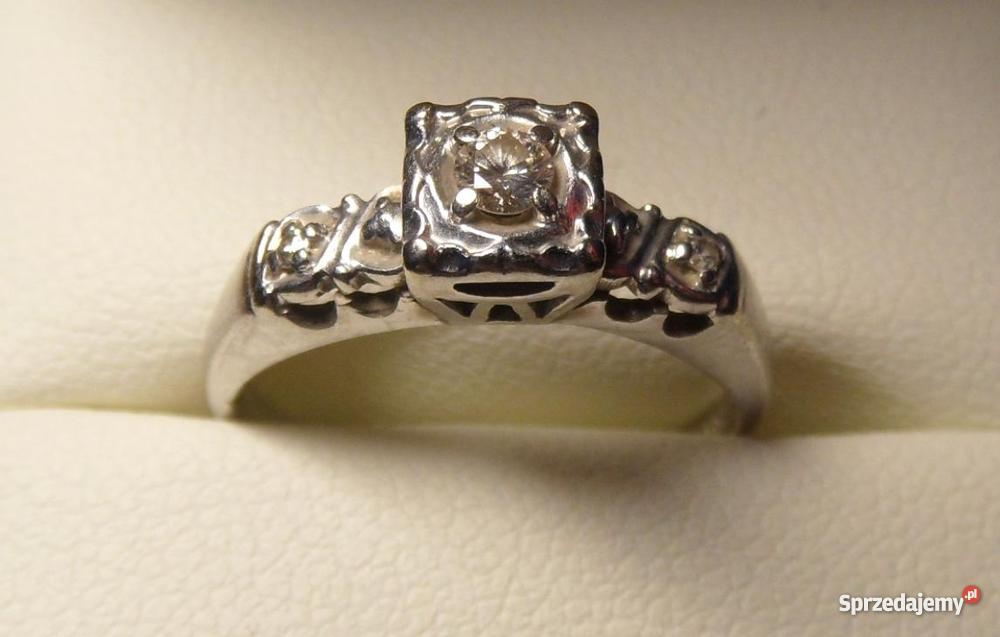 Pierścionek Zaręczynowy Z Brylantami Rozm 11 Sprzedajemypl