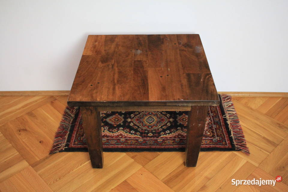 Stolik kawowy - lite drewno tekowe