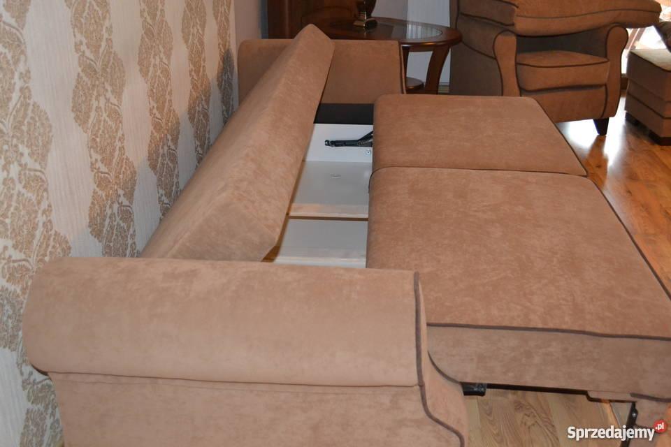 Zestaw wypoczynkowy Kanapa fotel Uszak pufa Gniewkowo